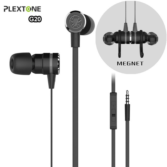 Plextone G20 Gaming Headset Earphone Stereo Bass Earphones with mic Magnetic Earpiece for phone gamer sports fone de ouvido