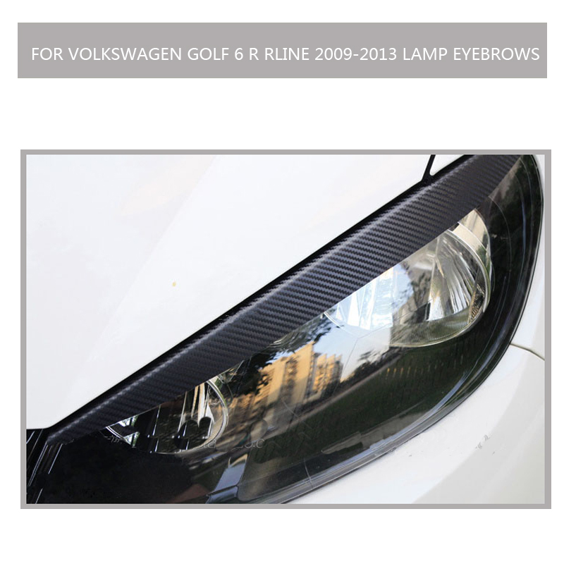 carbon fiber MK6 RLINE free shipping quality all Car headlight lips eyebrows for Volkswagen Golf 6 r RLINE 2009-2013