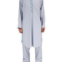 Распродажа Moslem Morocco tobe хлопковое и льняное платье из двух частей Муслем Аравийский халат мусульманская мужская одежда
