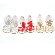 18 inch Girls doll Shoes Shiny sandals Casual shoes American new born accessories Baby toys fit 43 cm baby s144