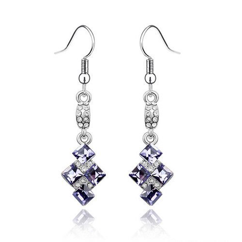 Luxurious Crystal Pendant Earrings With SWA Elements Wedding Jewelry Fit For Evening Dress #79840