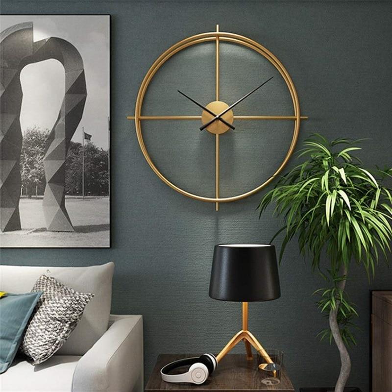 94cm Nordic Creative 3D Clock Wall Clock Modern Design Living Room Study Silent Quartz Clock Big Round Clock On The Wall