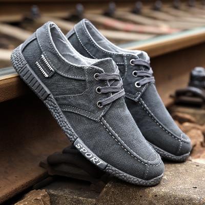 shoes men sneakers 2019 new denim lace up canvas shoes