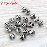 MIC 100 Pcs  Antiqued Silver zinc Alloy Smooth Round Spacer Beads 3.5x4mm DIY jewelry D4