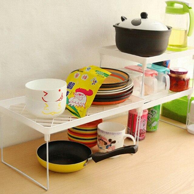 Superposition Shelf Multilayer Snap Type Plastic Foldable Storage Racks Kitchen Shelving Holders Multiuse Organizer Organizadorr