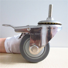 HOT 1 pcs 3 inch TPR stainless steel wheel caster for made in China screw 10MM