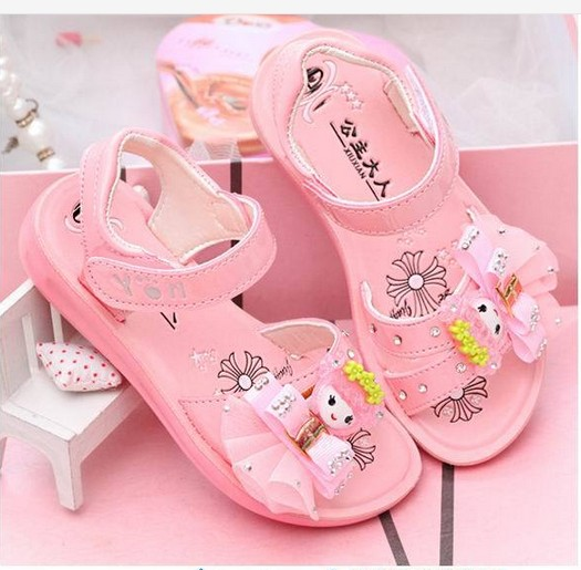 2016 summer new Korean Meng-old girl baby children shoes princess sandals students sandals