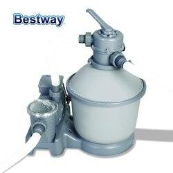 58400 Bestway 1000 Гал песочный фильтр для 1100-27200L бассейн с долговечным баком 6 позиционный клапан Топ фланцевый зажим анти листья и мусор