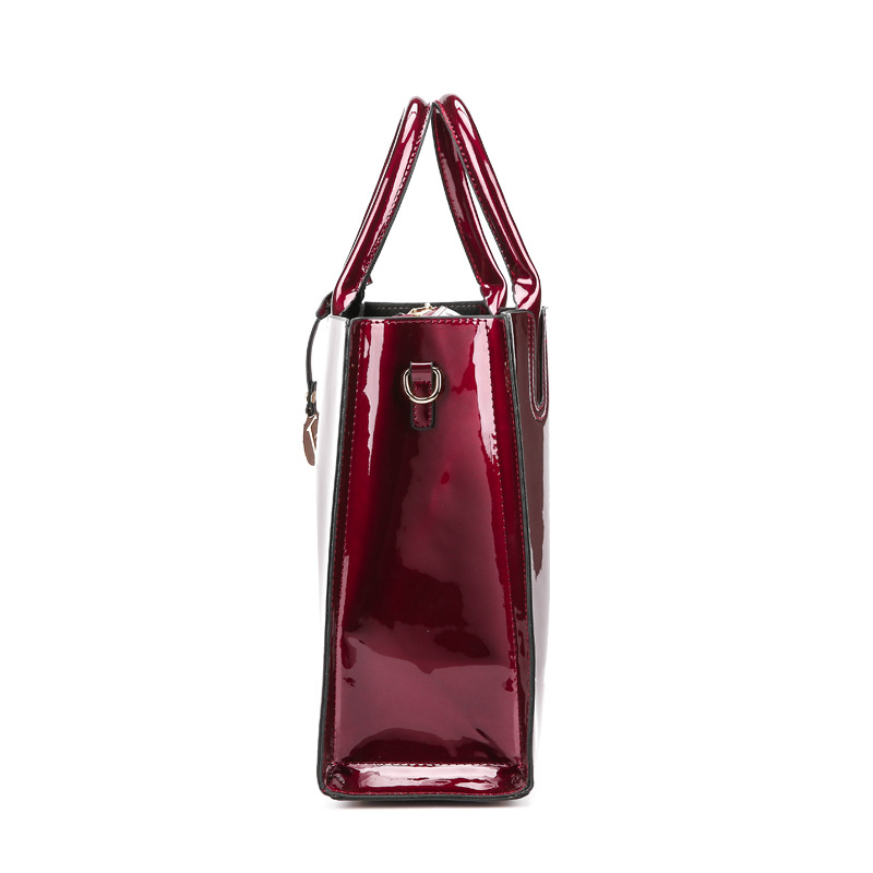 f8058d53d5 Bonsacchic Red Patent Leather Tote Bag Handbags Women Famous Brands Lady s  Lacquered Bag Red Handbag for Women Shoulder Bag Sac-in Top-Handle Bags  from ...