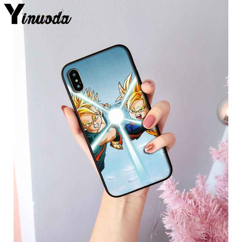 Yinuoda Anime Dragon Ball Saiyan Goku Vegetto Gohan Klant Telefoon Case voor Apple iPhone 8 7 6 6S Plus X XS MAX 5 5S SE XR Cover