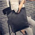 2017 Hot Sale Mulheres Bolsas de Tecido de Couro Sacos de Ombro Único Sacola Bolsa de Moda Big Bag