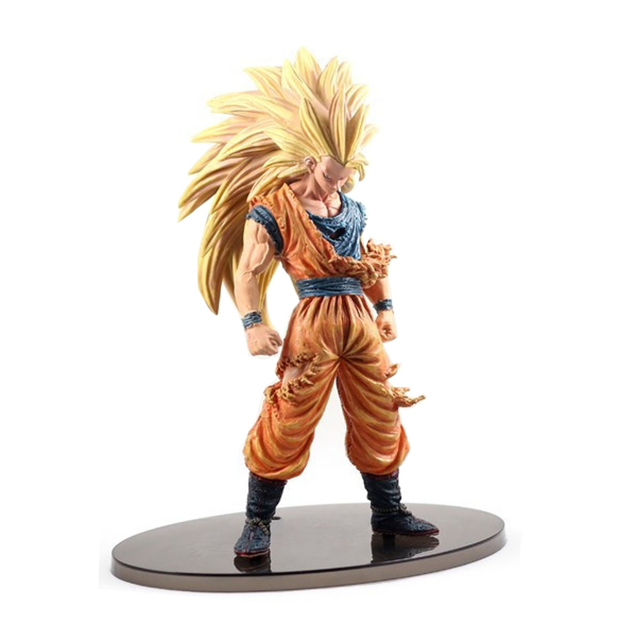 Chanycore 21CM Japanese Anime Dragon BALL Z Battle Damage Ver Super Saiyan 3 SON GOKU GOHAN Vegeta Action Figure PVC Model Toy 16cm anime dragon ball z goku action figure son gokou shfiguarts super saiyan god resurrection f model doll
