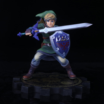High Quality Anime The Legend of Zelda Link 1:7 20cm Action Figure Toys without Retail Box