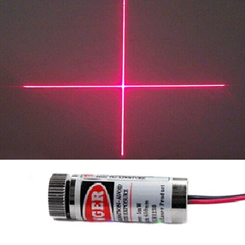 High Quality Red Line Laser Module 5mW 650nm Focus Adjustable Laser Head 5V Industrial Grade