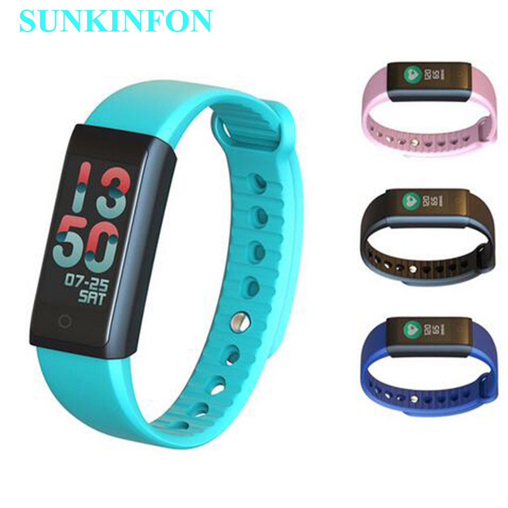 S20 Heart Rate Smart Wristband Band Blood Pressure Monitor Pedometer Fitness Bracelet Color LCD for Samsung Galaxy S5 S4 S3 mini fashion z18 smart bracelet blood oxygen heart rate monitoring sns reminder pedometer sport smart wristband for woman android ios