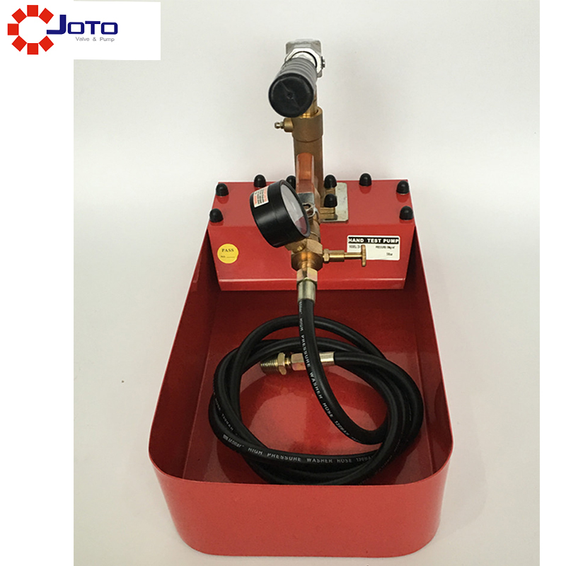 Red 50kg Manual Pressure Test Pump with PPR Pe Pipeline