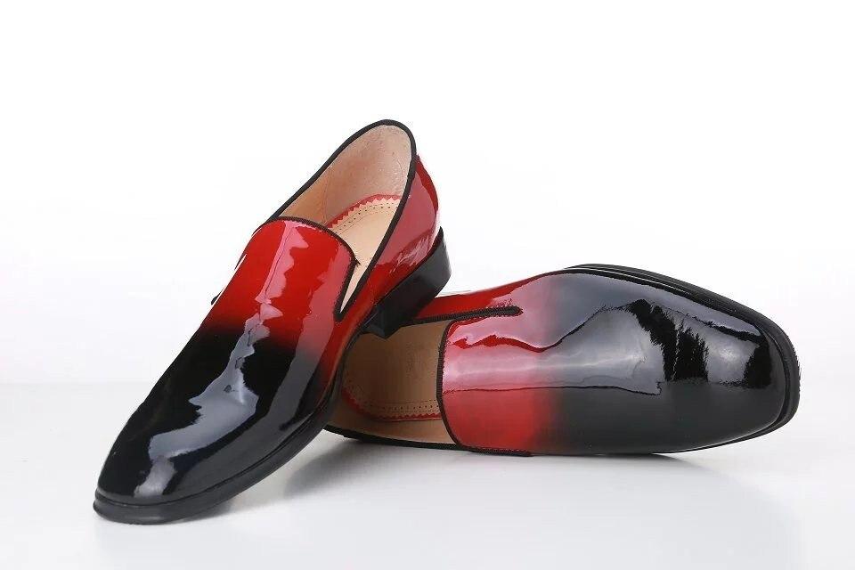 Parche Picture Alta otoño As Negro Beertola Cuero Pisos Mocasines Primavera Rojo Vestido De Zapatos Calidad Guapo Color Hombres xFnPXqT