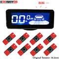 Koorinwoo sondas originales de 16,5mm sensores de aparcamiento de pantalla LCD 8 radares alarma Parktronic frontal asistencia de aparcamiento negro blanco