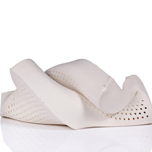 latex sleeping pillow cervical orthopedic neck pillow bedroom white memory pillow one piece free shipping