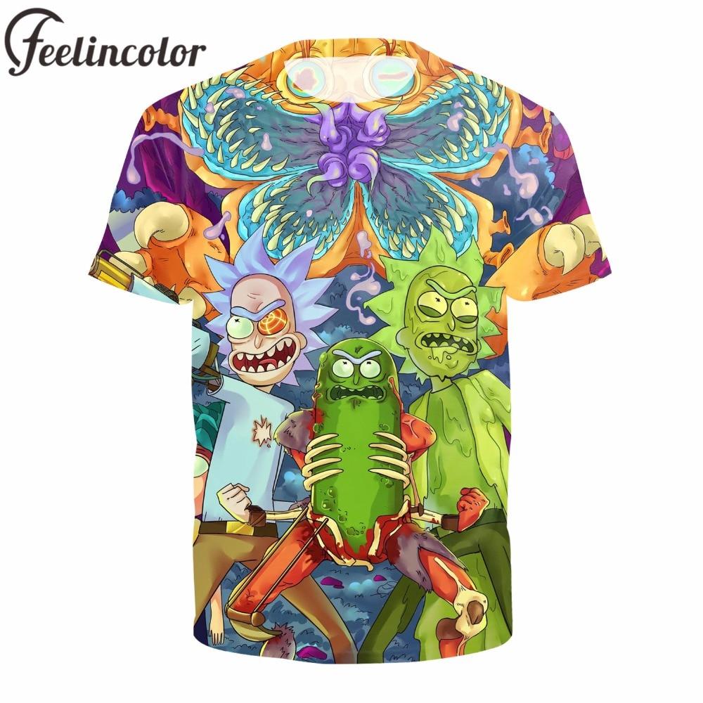 Feelincolor Rick and Morty t shirt Men Crossfit Fitness Casual Men/Women 3D Funny T-Shirt Men Tops t-shirt Men Harajuku jung kook bts persona