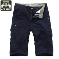 AFS JEEP Shorts Men Cargo Shorts Summer Bermuda Homme Pure Cotton Male Casual Shorts Breathable Pantalon