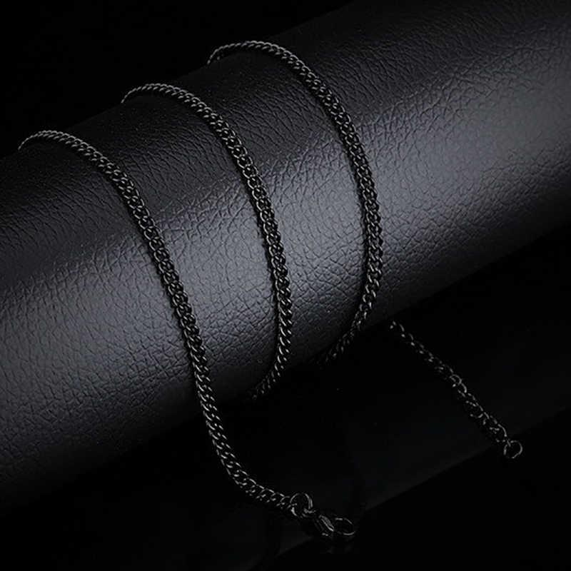 Moda 2019 srebrny złoty czarny kolorowy naszyjnik łańcuchy luzem dla majsterkowiczów naszyjniki komponenty do wyrobu biżuterii akcesoria Handmade