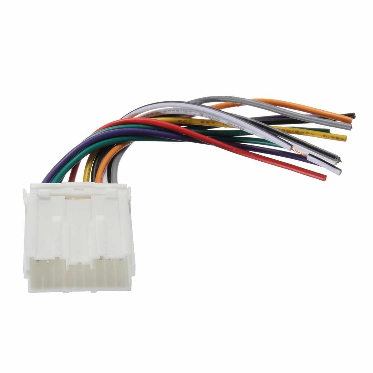 hight resolution of kroak car stereo radio cd player wiring harness wire aftermarket for mitsubishi dwh612