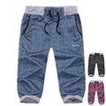 Men Breeches Solid Casual Beach Short Sweatpants Cotton Loose Mens 6xl Shorts Fat Trousers M - 6XL