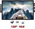 120 polegadas 16:9 tela de projeção parede portátil montado Matt White dobrável de lona ao ar livre para LED LCD Display projeção de filmes em HD