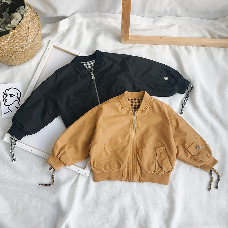 Children's Bomber Jacket Autumn Fashion New Boys and Girls Casual Jackets Coats Kids Both Positive and Negative Outwear Jacket