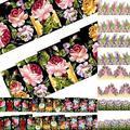 Flor decalque bonito transferência de água Manicure Nail Art Stickers dicas decoração 7H6M