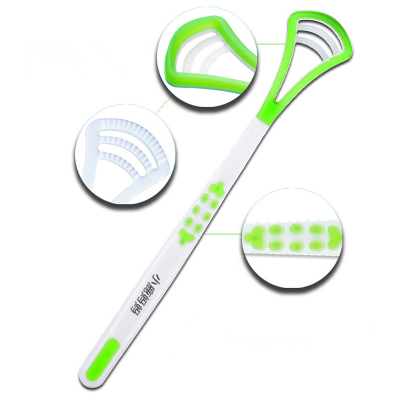 Fresh Breath Tongue Scraper Tongue Cleaner Brush Dental Tongue Cleaning Scraper Brush Oral Hygiene 1 Piece 4 Color цена