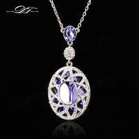 New Exaggerated Princess Tear Large Crystal Necklaces&Pendants Crystal Vintage Jewelry For Women Accessiories DFN003