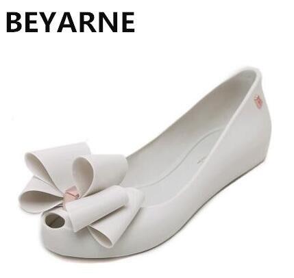 BEYARNE moda mujer grande encantadora bowtie jalea de zapatos boca de jalea f3e737