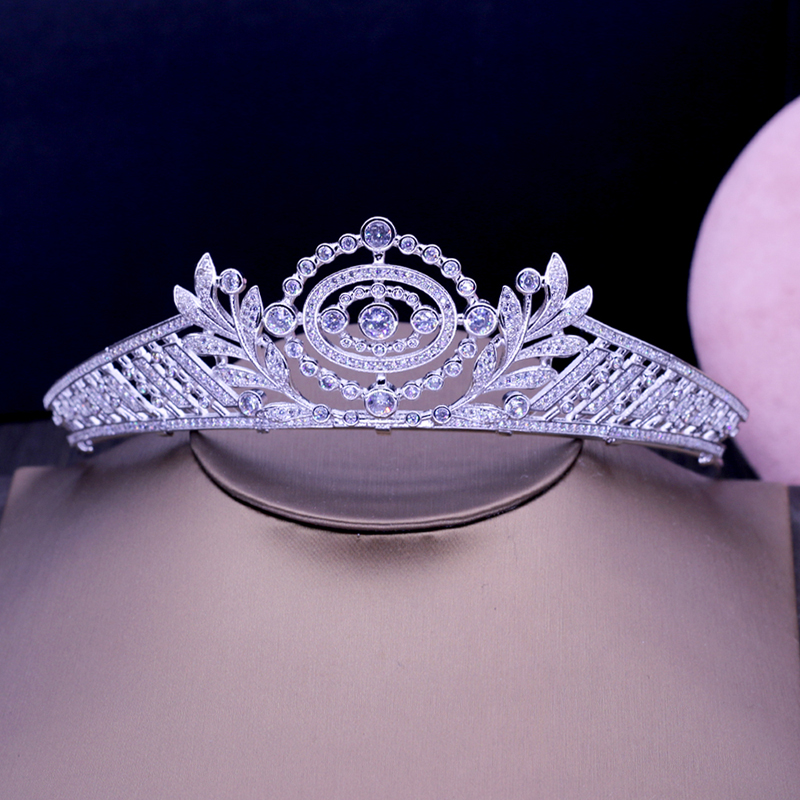 Luxury Top Quality Cubic Zirconia Handmade Queen Tiaras And Crown Women Fashion Hair Accessories Bridal Tiaras Gifts H 029