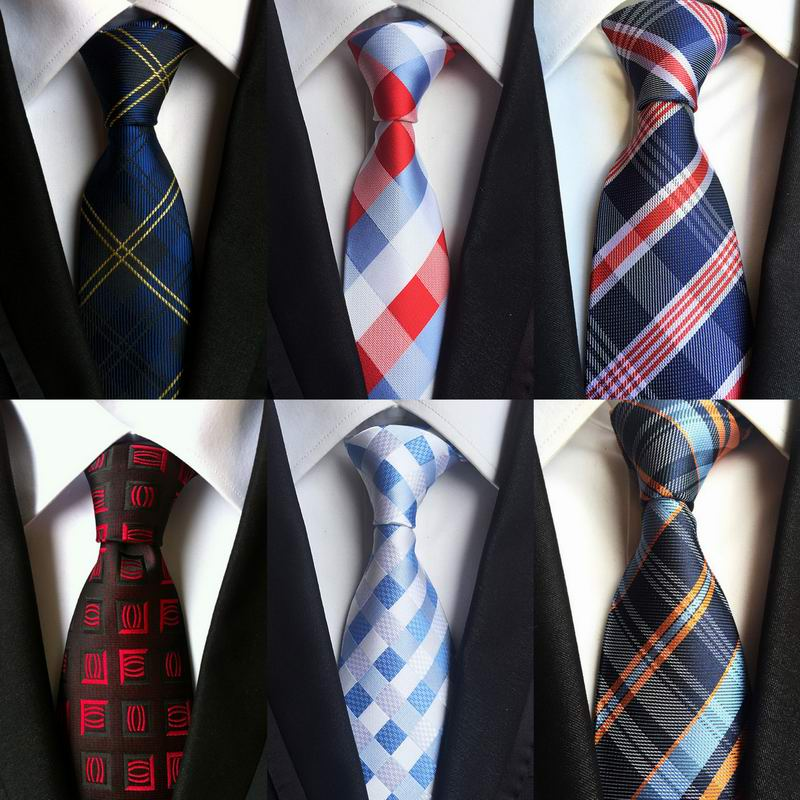 2017 Free Shipping Long tie New Checked