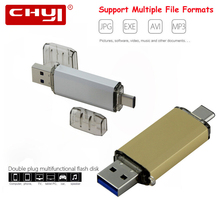 CHYI Type C 3 1 USB Flash Drive U Disk 16GB 32GB Pendrive OTG Memory Stick