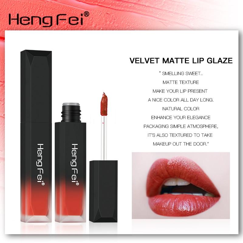 1Pcs 6Colors velvet matte mist face liquid lipstick waterproof lasting non touch cup lip glaze lip color cosmetics beauty makeup in Lipstick from Beauty Health