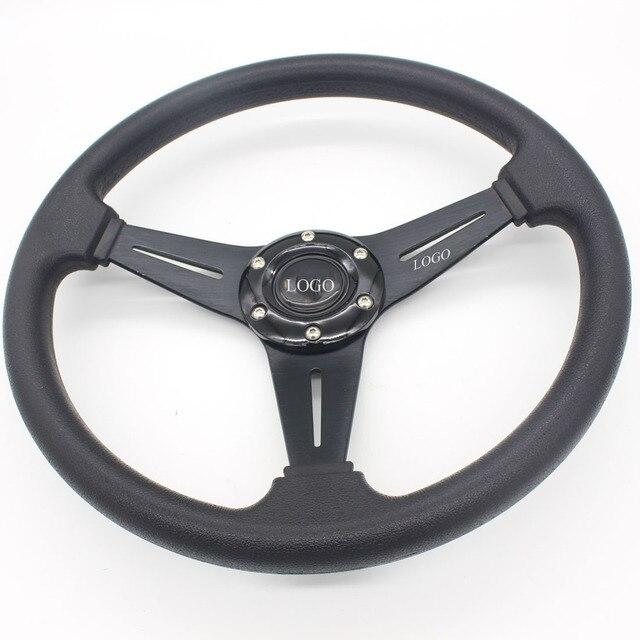 "Dongzhen Auto 13.6"" PU Steering Wheel Sport Steering Wheel Racing Car Steering Wheel for MOMO Automobile Car-styling"