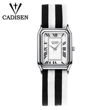 c2026 CADISEN fashion ultra-fine fabric ladies side watch top brand luxury leisure casual style