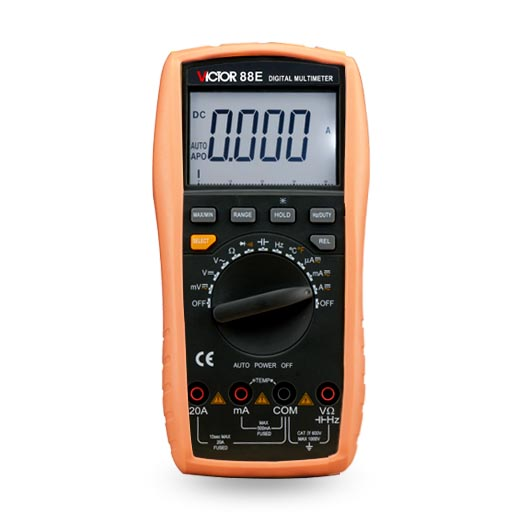 VICTOR 88E Large-screen LCD Handheld display digital multimeter victor e kappeler community policing