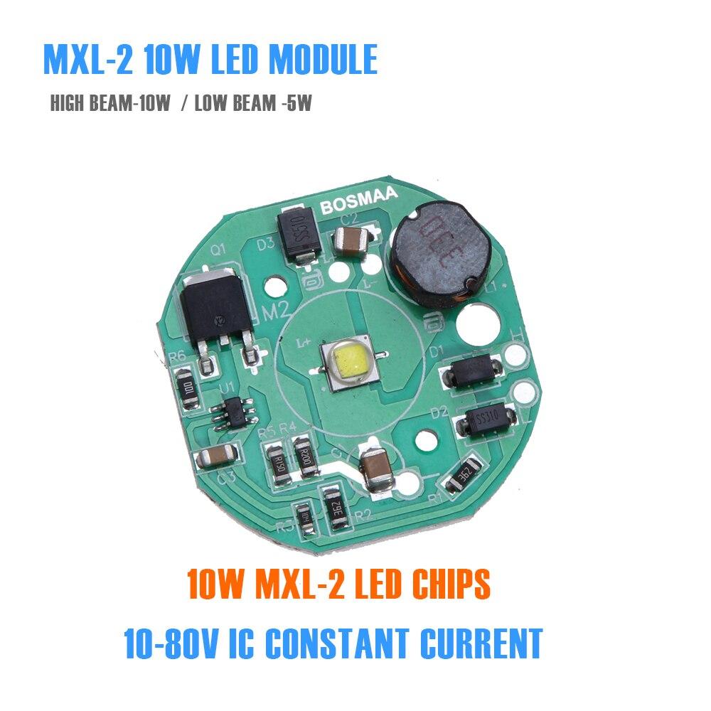 BOSMAA 10 Вт автомобиль свет двигателя свет DIY светодиодный чип MX L2 7070 smd светодиодный чип свет печатной платы модуля 6500 К высокое Мощность 12 В