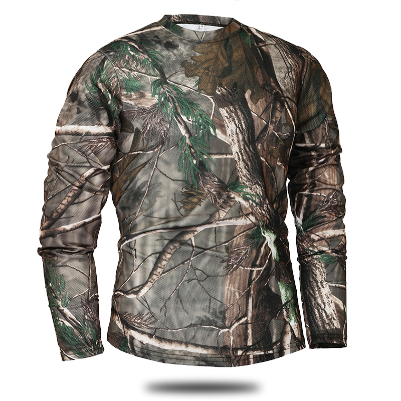 Mege Brand Clothing New Autumn Spring Men Long Sleeve Tactical Camouflage T-shirt camisa masculina Quick Dry Military Army shirt 1
