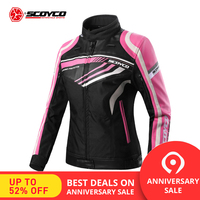 SCOYCO Motorcycle Summer Jacket Women's Motorcycle Leather Jackets Waterproof Cross country Motorcycle Riding Downhill Clothes
