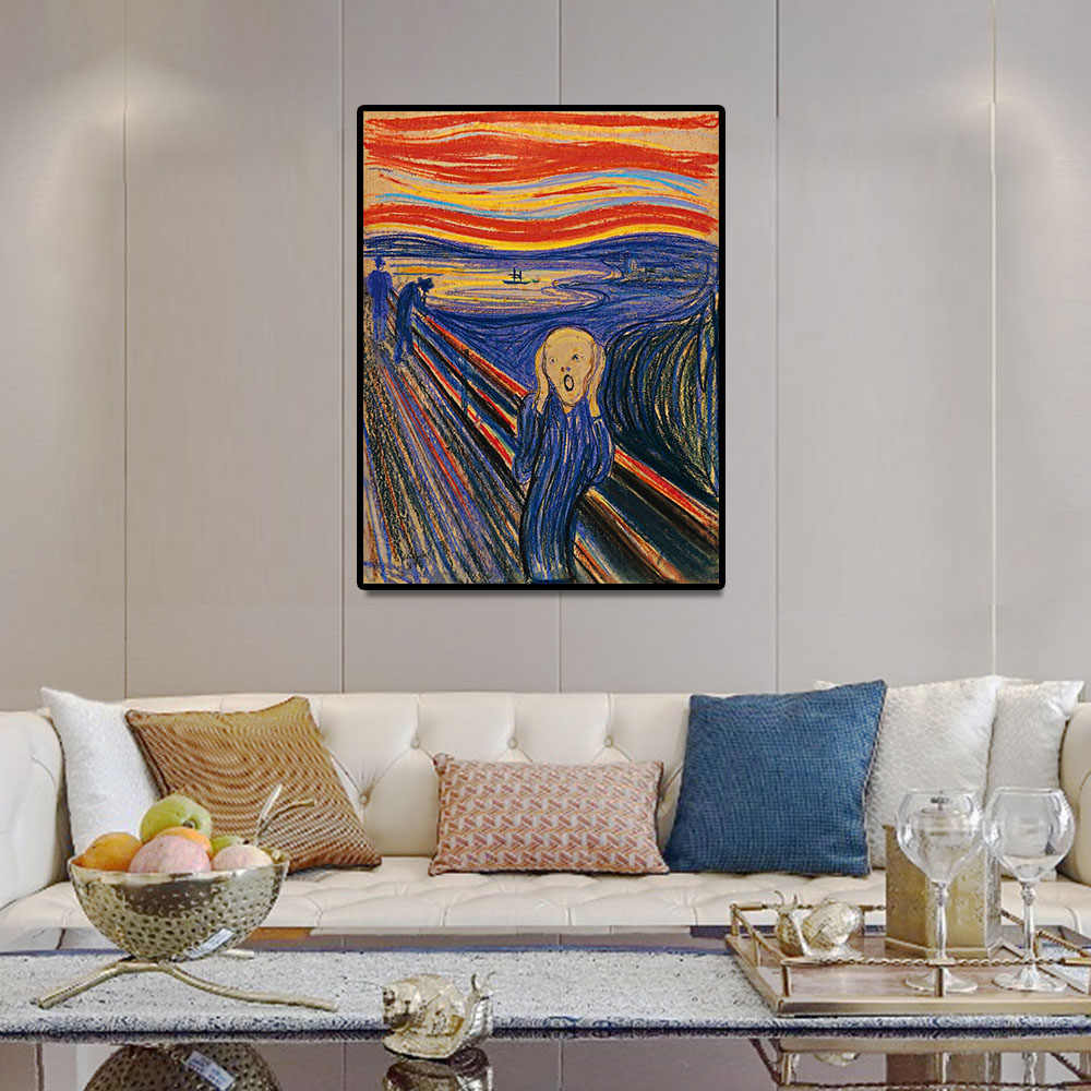 Edvard Munch -the Scream Classic Arts Reproduction Canvas poster Print Painting Wall Art Pictures For Living Room Home Decor