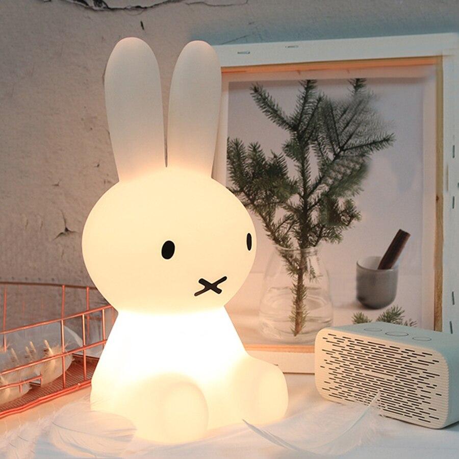 BEIAIDI 50CM Dimmable Rabbit LED Night Light Cartoon Animal Bedside Baby Lamps Kids Children Baby Kids Luminaria Christmas Gift