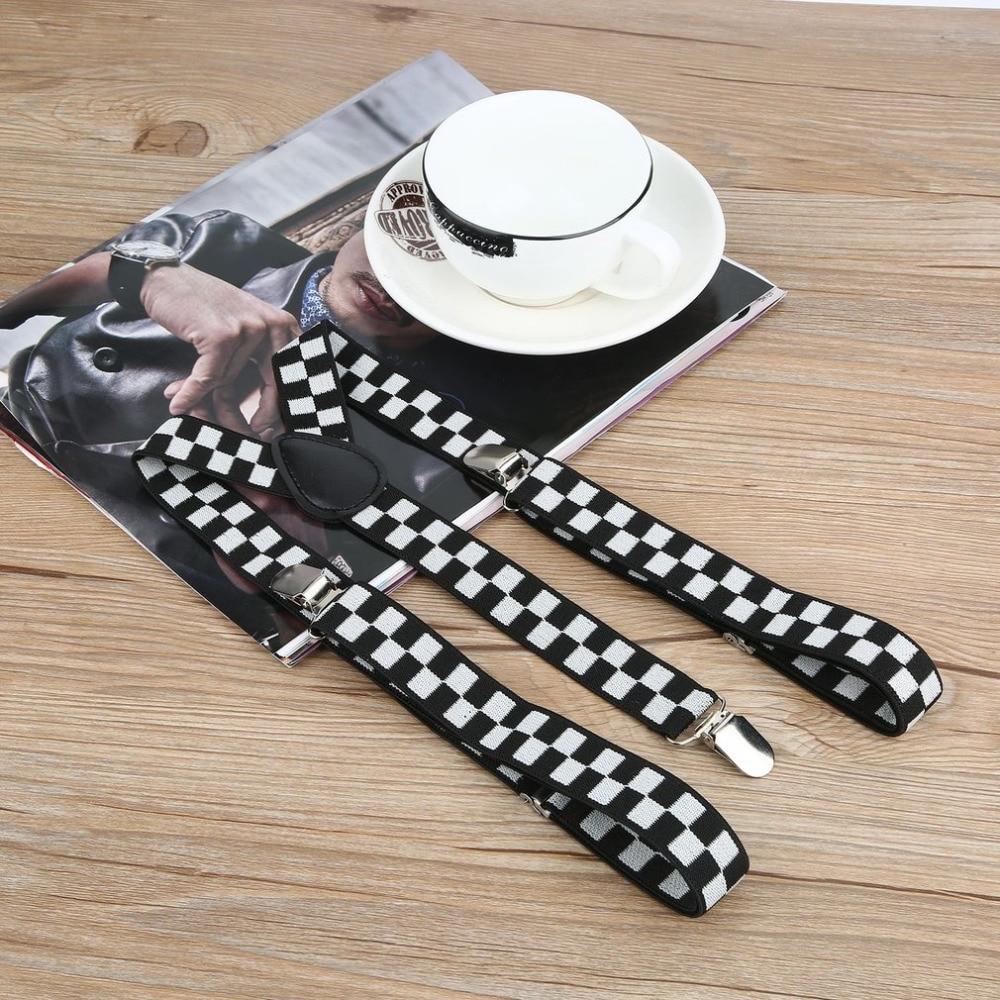 Adjustable Elasticated 11 Colors Adult Suspender Straps Bow Tie Men Women Y Shape Elastic Clip-on Suspenders 3 Clip Pants Braces