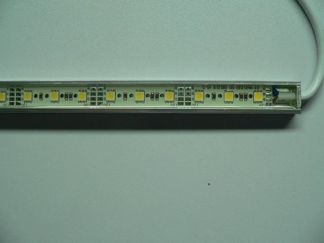 waterproof 5050 SMD LED Rigid strip light;30pcs 5050 SMD led;0.5m long;metal housing,please advise the color(R/G/B/W/WW/G/RGB)