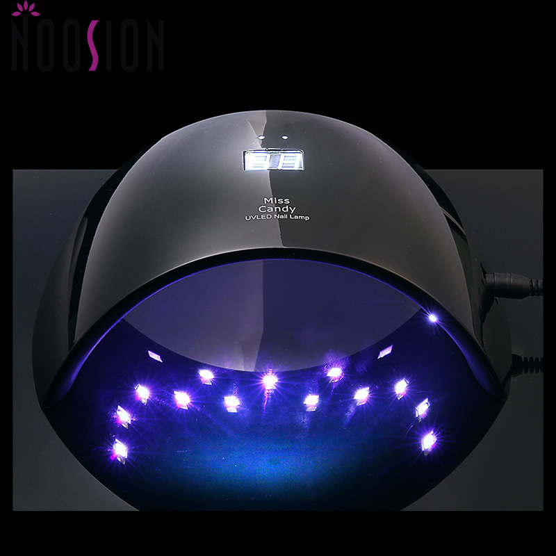 NOOSION Candy2 UV Led Nail Lamp 24W Fit Fingers/Feet For All Gel Polish Black Nail Dryer Machine Infrared Sensor lampe uv ongle inov 8 сумка all terrain kitbag black