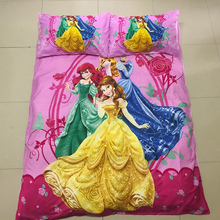 Hermosa rosa muchachas de la princesa juego de cama 2/3 unids kit de hoja de cama funda nórdica funda de almohada kit/doble/individual